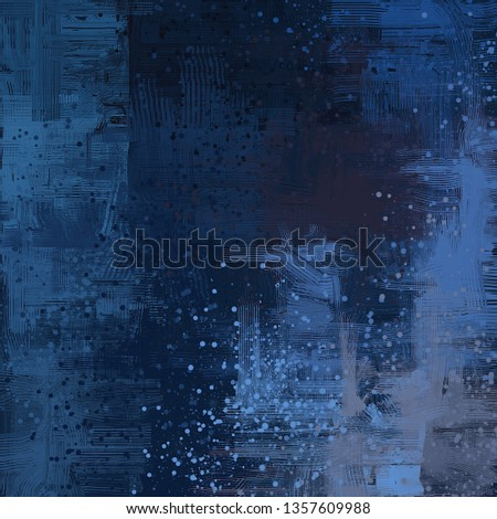 Abstract texture. 2d illustration. Expressive handmade oil painting. Brushstrokes on canvas. Modern art. Multi color backdrop. Contemporary brush. Colorful digital backdrop. #1357609988