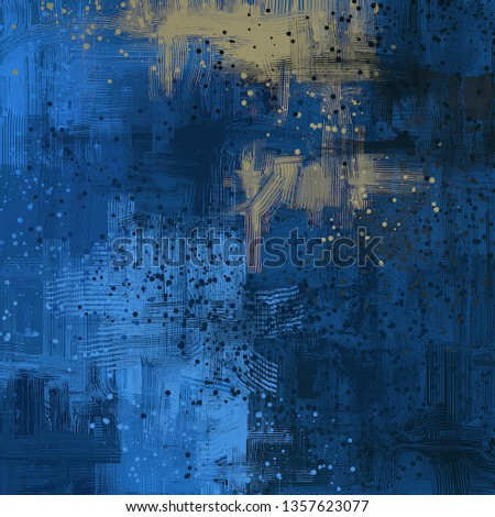 Abstract texture. 2d illustration. Expressive handmade oil painting. Brushstrokes on canvas. Modern art. Multi color backdrop. Contemporary brush. Colorful digital backdrop. #1357623077