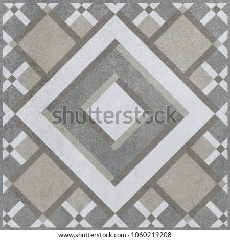 abstract texture design pattern for wall tile and floor tile , marble tile mosaic , geometric wood carving pattern #1060219208