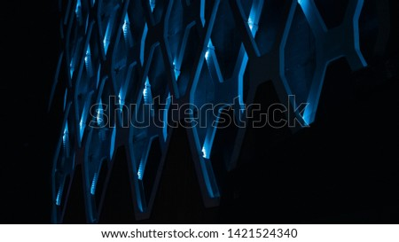 Abstract Texture Futurist Blue pattern Creative corporative energy background geometric concept technical  #1421524340