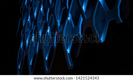 Abstract Texture Futurist Blue pattern Creative corporative energy background geometric concept technical  #1421524343