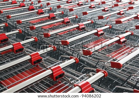 Abstract texture made of trolley. Shopping concept.