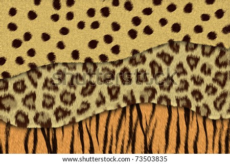Abstract texture of mix leopard skin