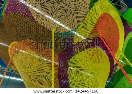 Abstract texture of multi-colored woven fabrics. Creative vintage background #1424467160