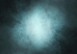 Abstract texture of the green smoke over black background