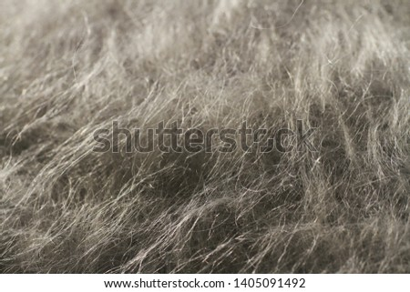 abstract texture of white wool and mohair fabric