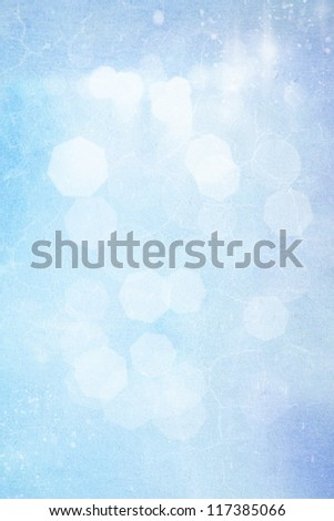 Abstract textured background: blue and white patterns. For art texture, grunge design, and vintage paper / border frame