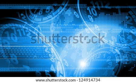 abstract the world technology use for background #124914734