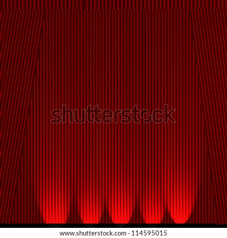 Abstract theater stage curtain