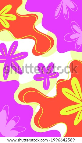 abstract three color flora illustration for backdrop, wallpaper, backdrop, textile, and print Photo stock ©