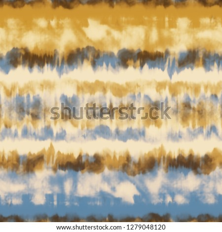 Abstract Tie-Dyed Effect Striped Textured Background. Seamless Pattern.