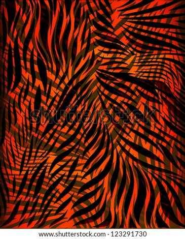 Abstract Tiger Stripe Background