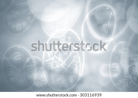 Abstract time conceptual, blurred vintage background.