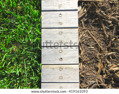 Abstract Top View Landscaping Textures Vignette 419161093
