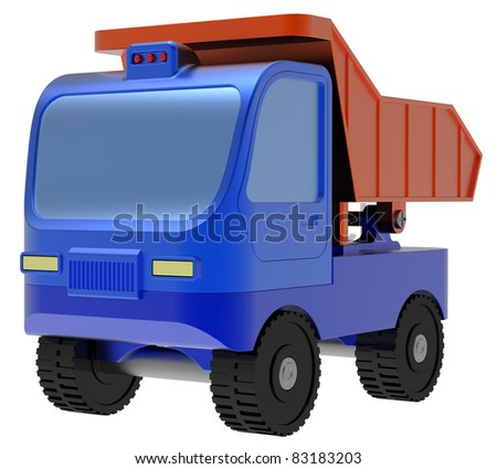 Abstract toy truck