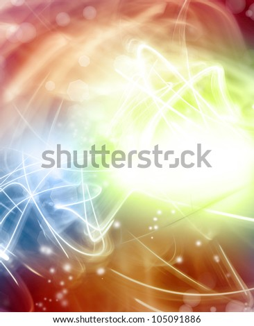 Abstract trails of light background