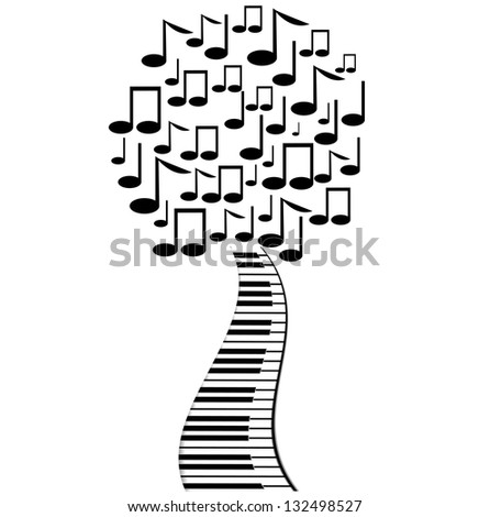 abstract tree from notes and