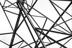 Abstract triangle shape of electric pole