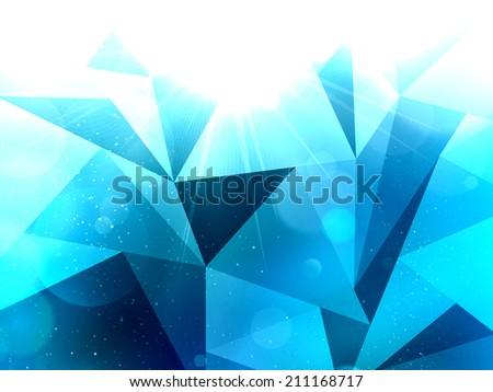 Abstract triangular Background, modern background design