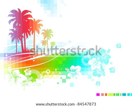 Abstract  tropical summer