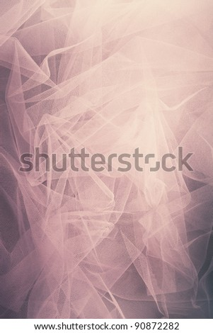 abstract tulle background, studio shot - stock photo