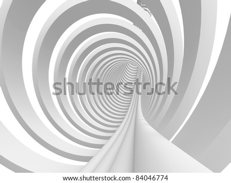 Abstract tunnel background. 3d image