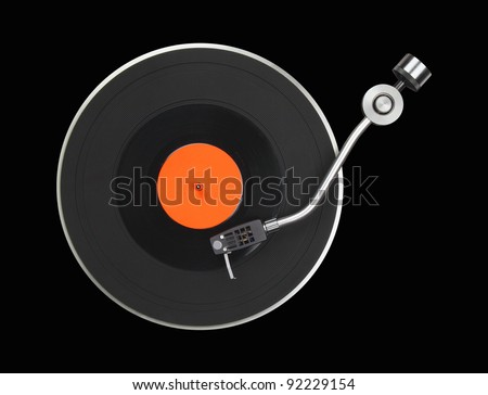 Abstract turntable part isolated on black