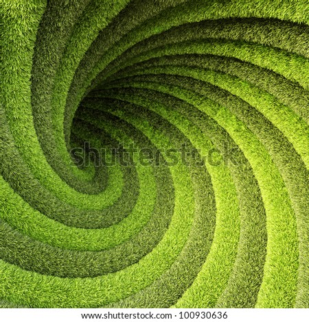abstract twisted tunnel of grass