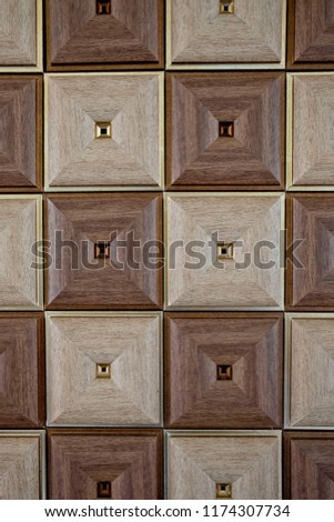 Abstract two tone of square background texture, Dark brown and light brown colors background texture. #1174307734