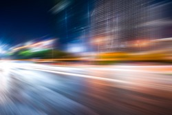 Abstract urban architecture and high speed pavement,in nanchang,jiangxi,china