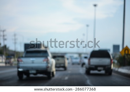 Abstract urban background with blurred traffic on street #286077368