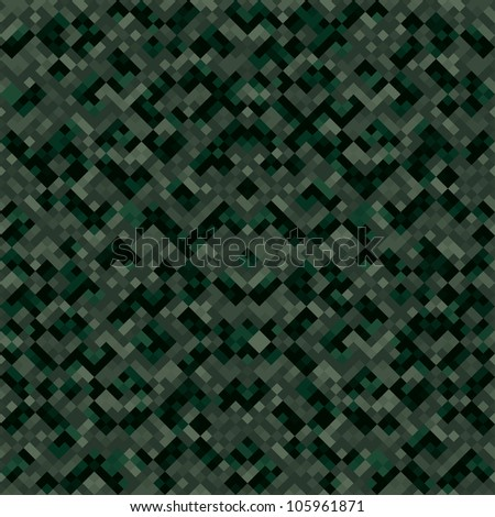 Abstract urban digital ornate pixels camouflage texture. Seamless tiling. Illustration. Raster version.