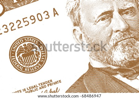 Abstract US dollar with text for background