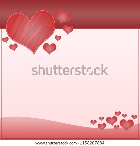 Abstract Valentine or wedding pink background with hearts #1156207684