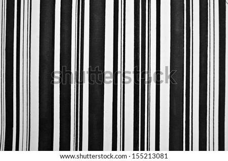 Abstract vertical black and white painted stripes