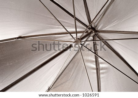 Abstract view of a photographer's umbrella #1026591