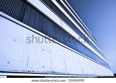 Abstract view of corporate building against blue sky. #10406989