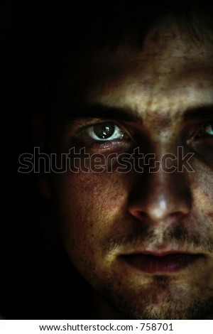 abstract view of man