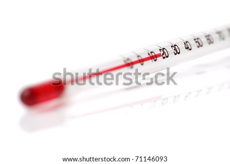 Abstract view of medical thermometer