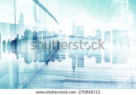 Abstract View of Urban Scene and Skyscrapers #270868112