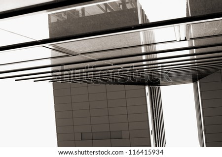 abstract views of modern buildings