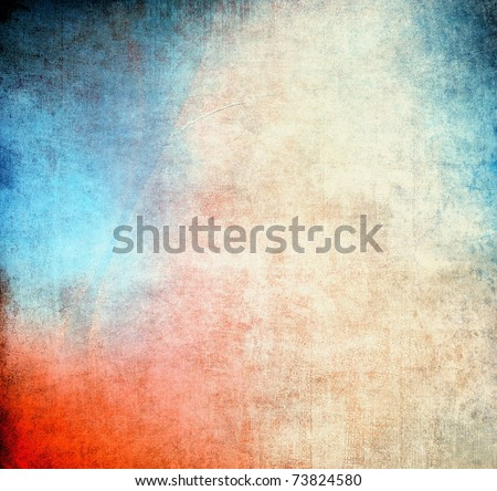 Abstract vintage background, blue and red color