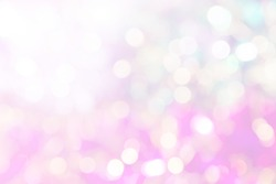 abstract vivid bokeh circles in soft color style background,free Space for text input
