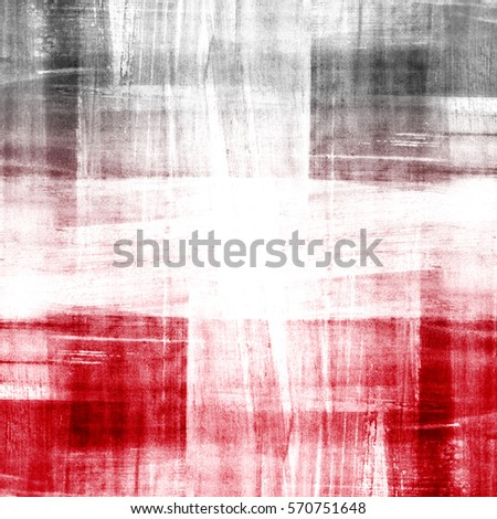 Abstract vivid red background. Watercolor brush strokes texture. Hand painted plaid stripes pattern.