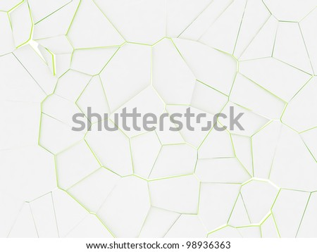 Abstract Voronoi diagram 3D background