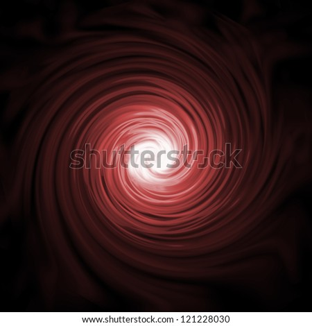 Abstract vortex background, black and red