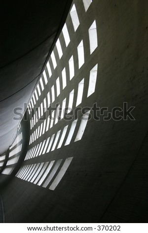 abstract wall in paris Charles de Gaulle airport - stock photo