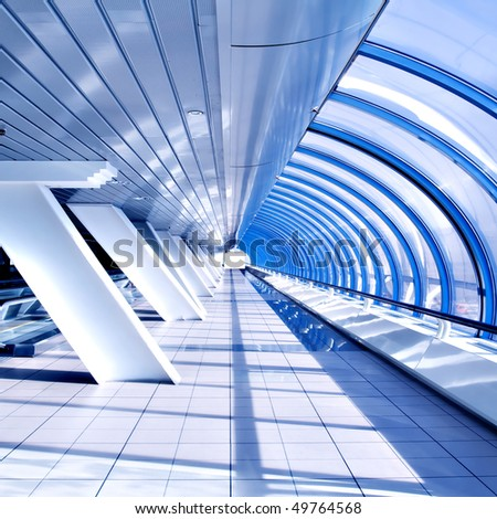 abstract wall in shopping mall - stock photo