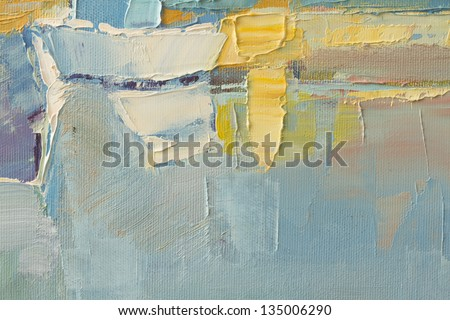 abstract wallpaper of oil painting with brush strokes in cool colors
