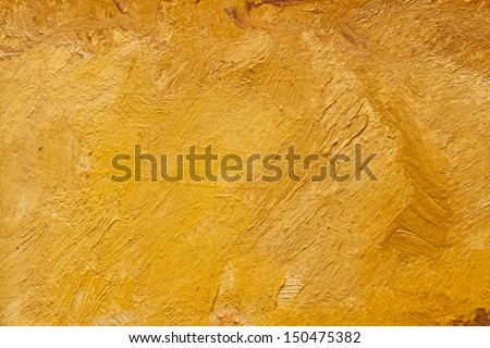 Abstract Wallpaper Of Oil Painting With Brush Strokes In Warm Colors